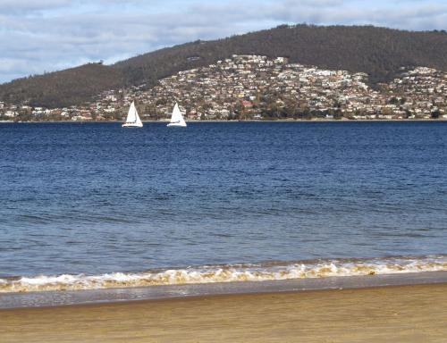 View of Hobart from Bellerive Beach.